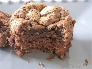 Muffins au chocolat caramel