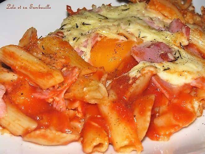 Pâtes à la pizzaïolo