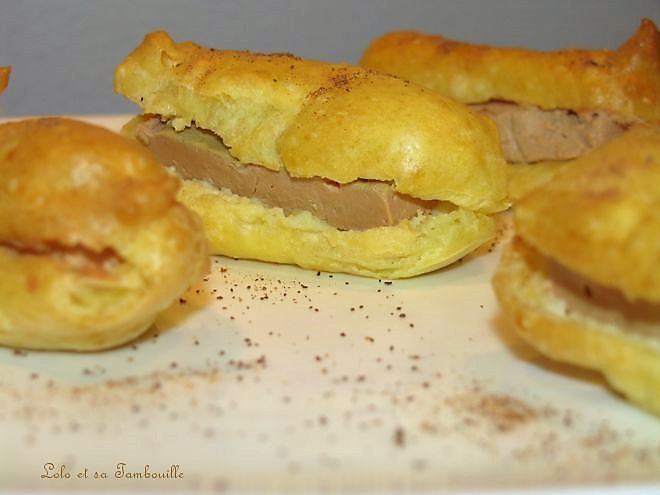 Eclairs à la mousse de foie gras