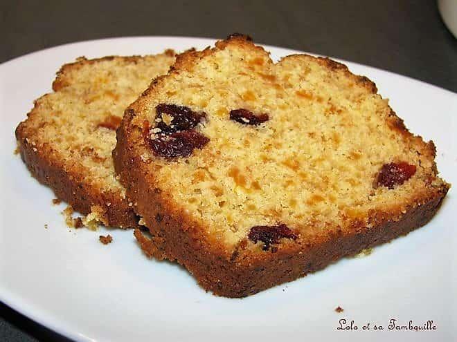 Cake aux abricots secs