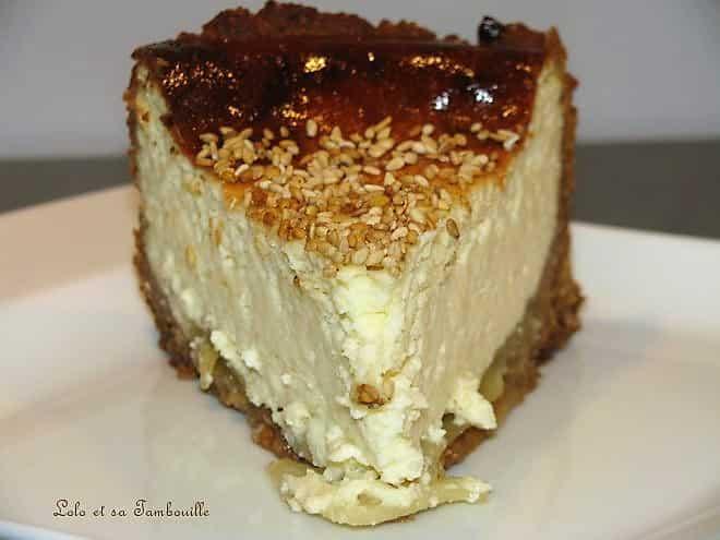 Cheesecake à la pomme