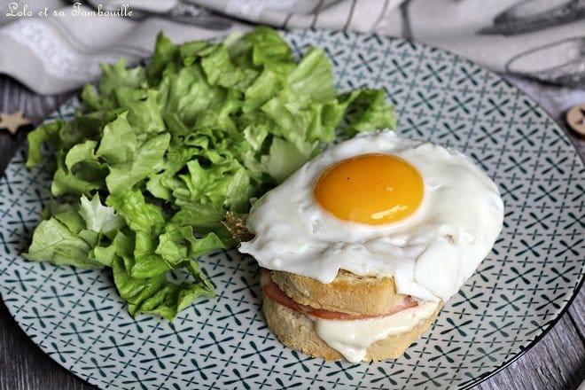 Croque madame bacon