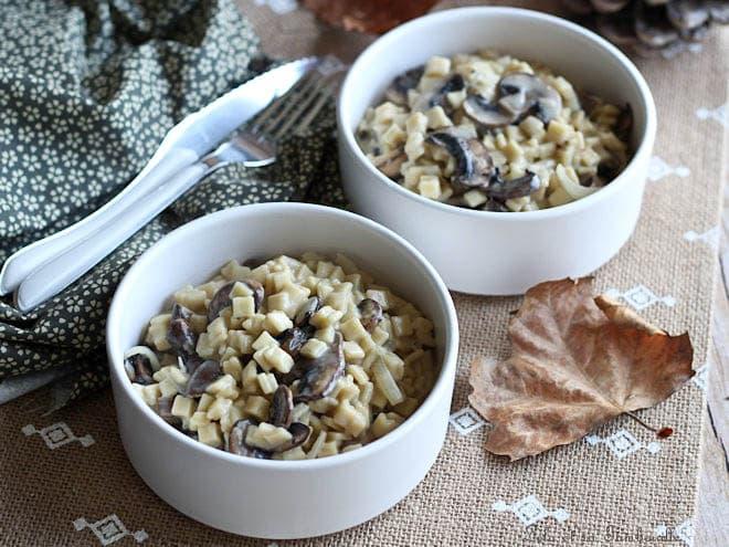 Crozetto aux champignons,crozet champignons,crozetto champignons