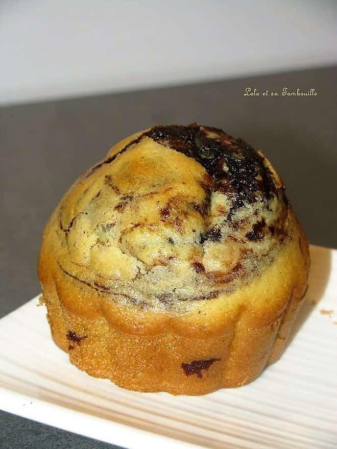 Muffins marbrés au chocolat