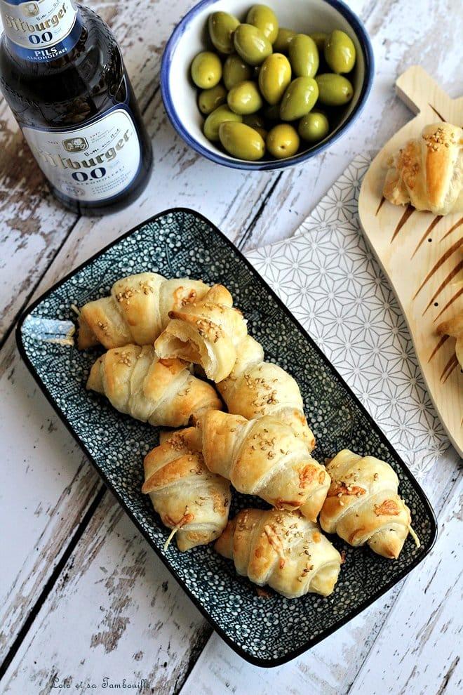Mini croissants aux lardons