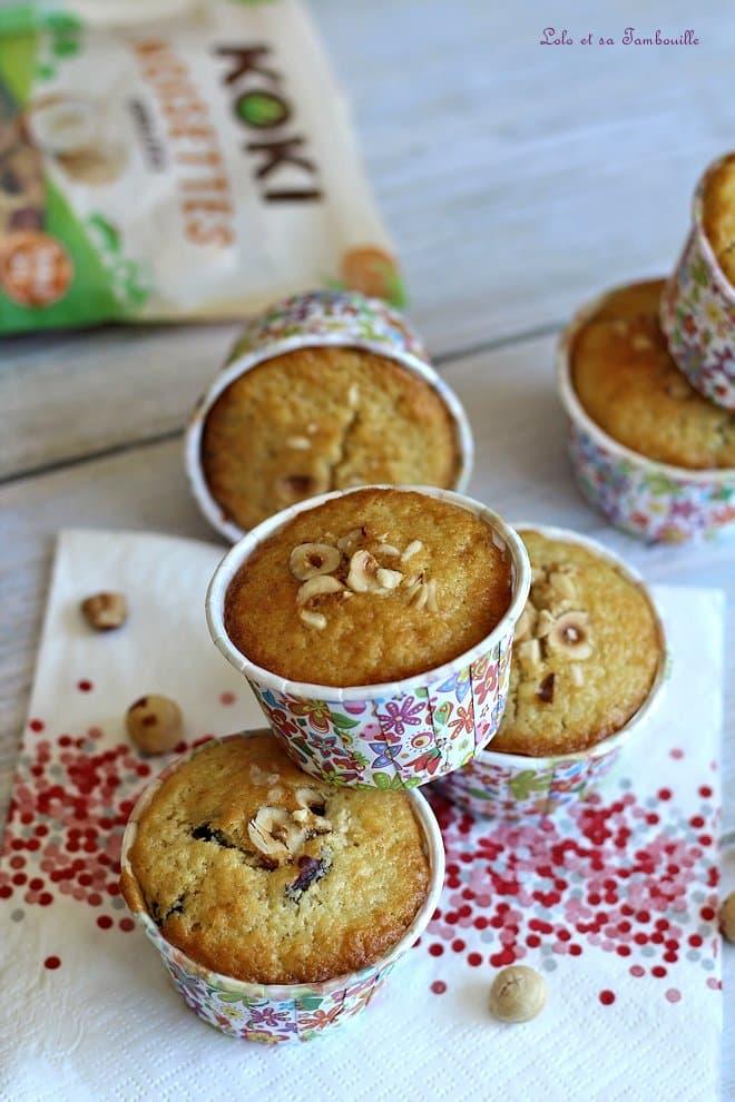 Muffins éclats de noisettes & pépites chocolat
