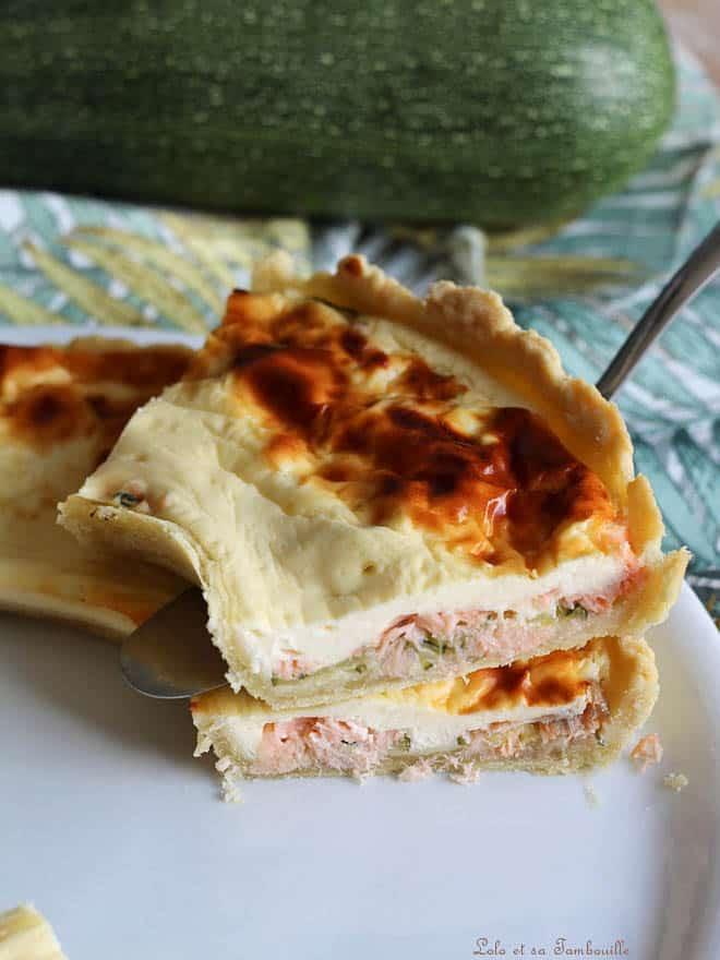 tarte fondante avec courgettes et chèvre frais