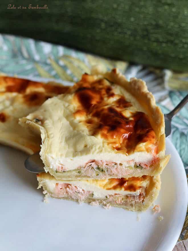 tarte avec saumon fumé et chèvre frais