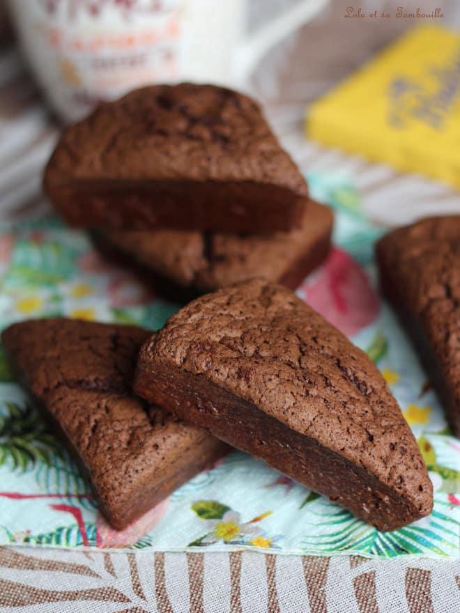 chocolat noir, moule triangles