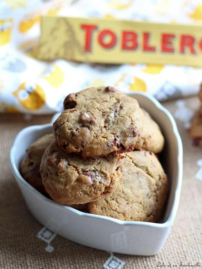 cookies avec du toblérone, recette avec du toblérone