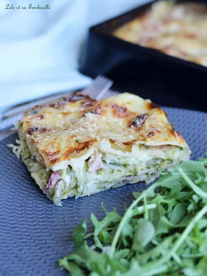 recette de lasagnes, repas complet