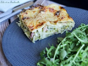 Lasagnes aux courgettes & lardons