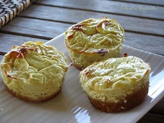 Mini cheesecakes à la moutarde