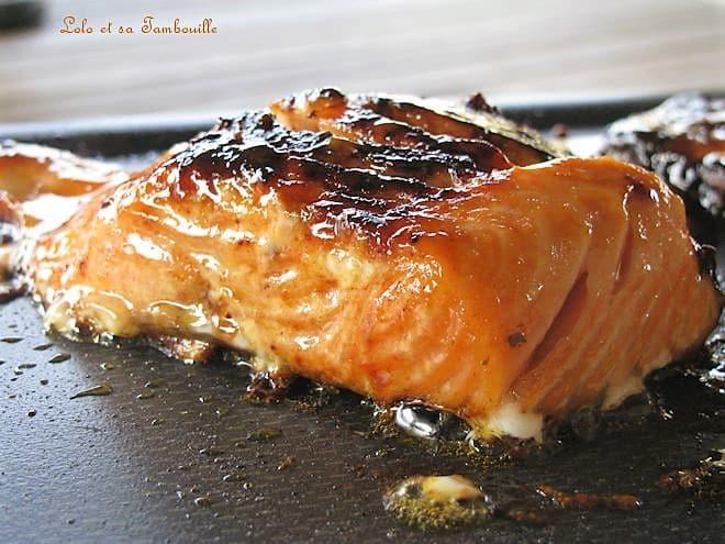 Pavés de saumon à la plancha