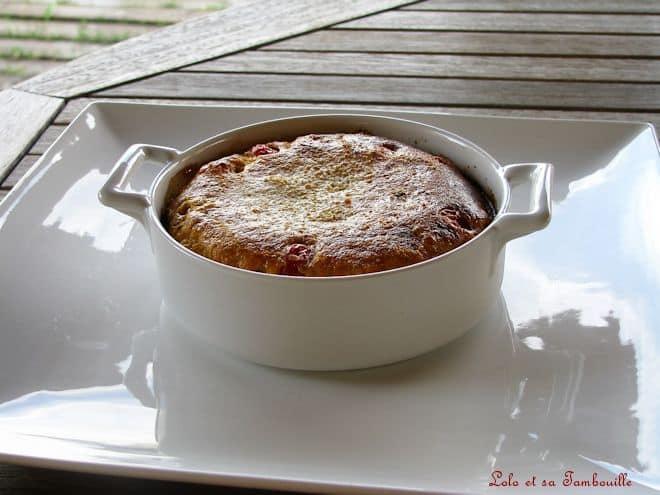 Clafoutis de tomates cerise & pesto rosso