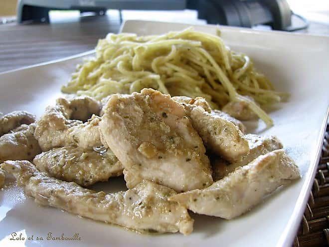 Emincés de poulet sauce à l'artichaut