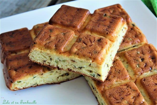 Gâteau de courgette au fromage frais & parmesan