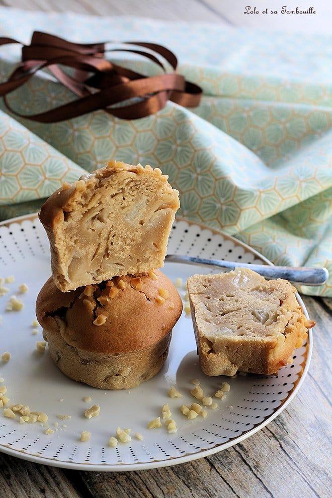 Muffins aux poires & pâte de spéculoos
