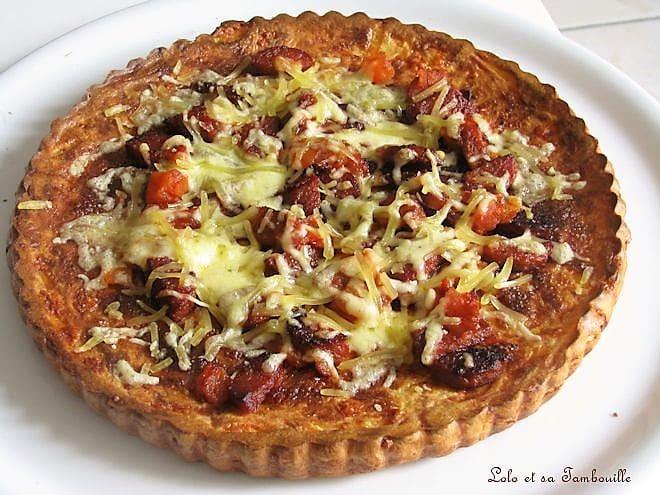 Pizza sans croûte