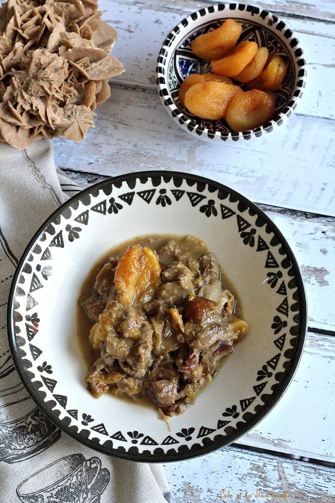 Tajine d'agneau aux mirabelles & abricots secs