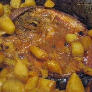 Rouelle de porc en cocotte