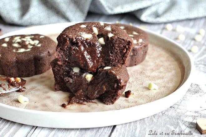 Moelleux aux deux chocolats