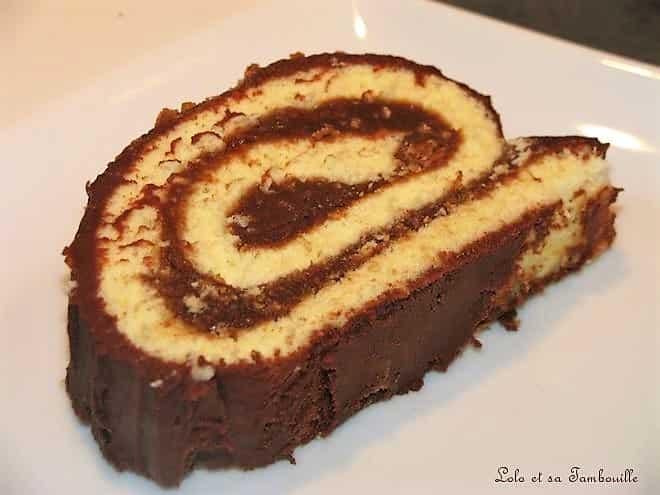 Gâteau roulé à la pralinoise