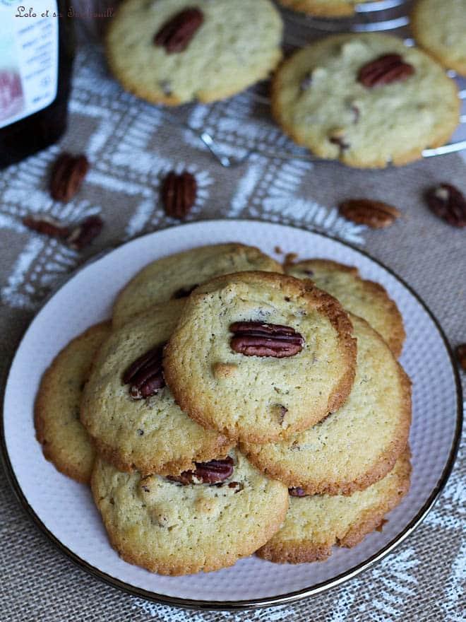 cookies, sirop d'érable, pécan
