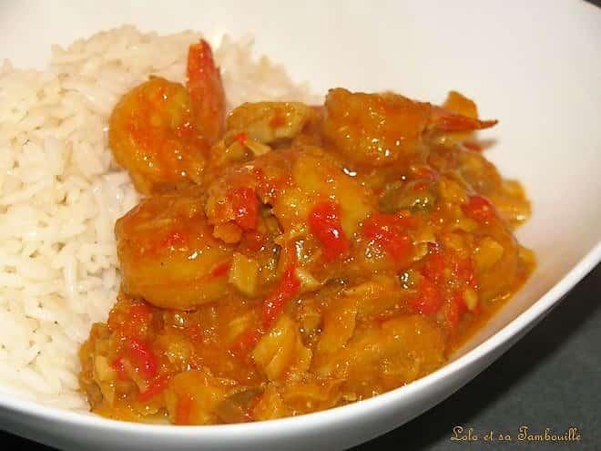 Curry de cabillaud
