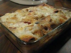 Lasagnes de poivrons grillés,