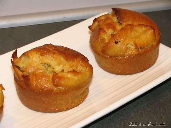Muffins amande au coeur de pralinoise