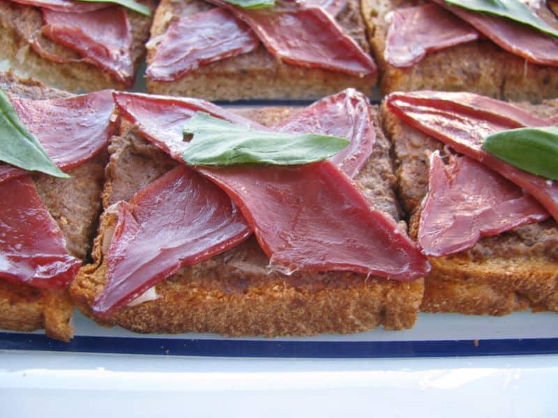 idée recette de toast, recette apéritive