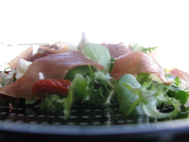 salade avec roquefort et tomates séchées