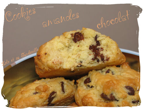 Cookies aux éclats d'amandes & pépites de chocolat