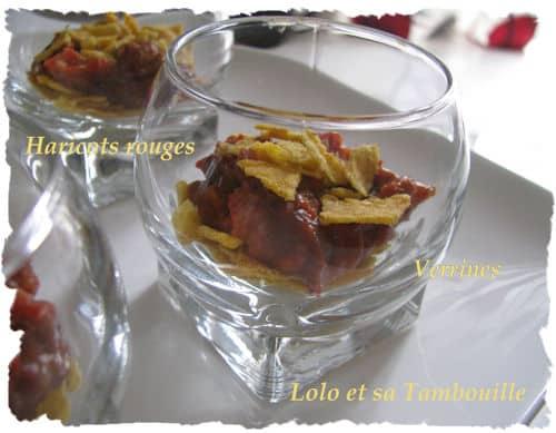 Verrines d'haricots rouges