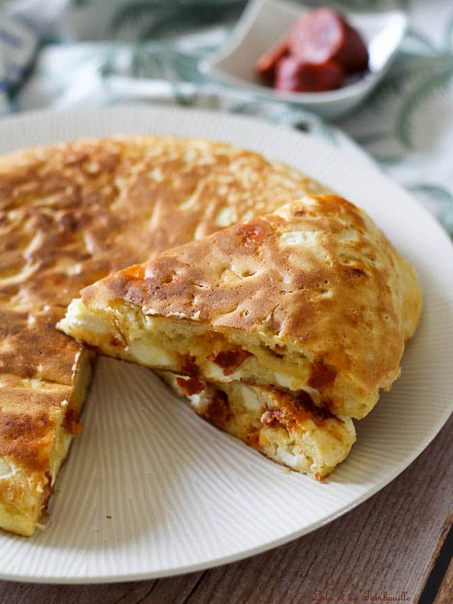 Gâteau salé au chorizo & kiri