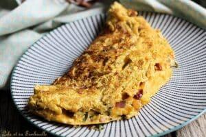Omelette chorizo oignon
