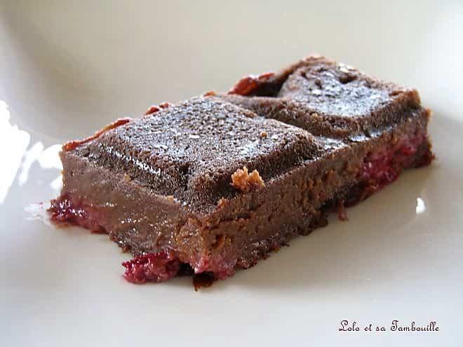 Fondant au chocolat au sel de Guérande & framboises
