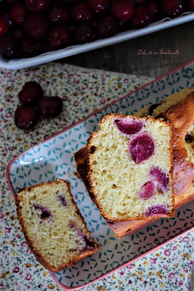 Cake à la ricotta & aux cerises
