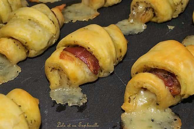 Croissants au pesto, coppa & comté