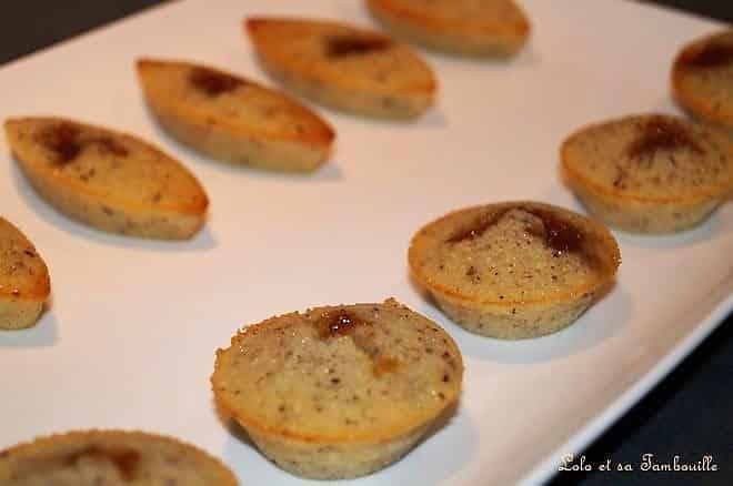 Financiers à la confiture de pommes tatin au caramel