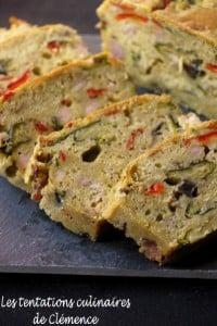 cake au légumes grillés et pesto + thon clémence
