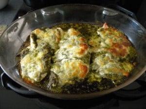 filet de dinde au pesto et à la mozzarella