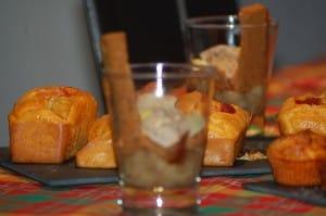 verrines de foie gras aux poires épicées alexandrine