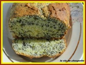 Cake à la ricotta, citron et pavot choupette