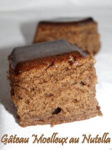 Gâteau moelleux et pire que délicieux au nutella Christèle