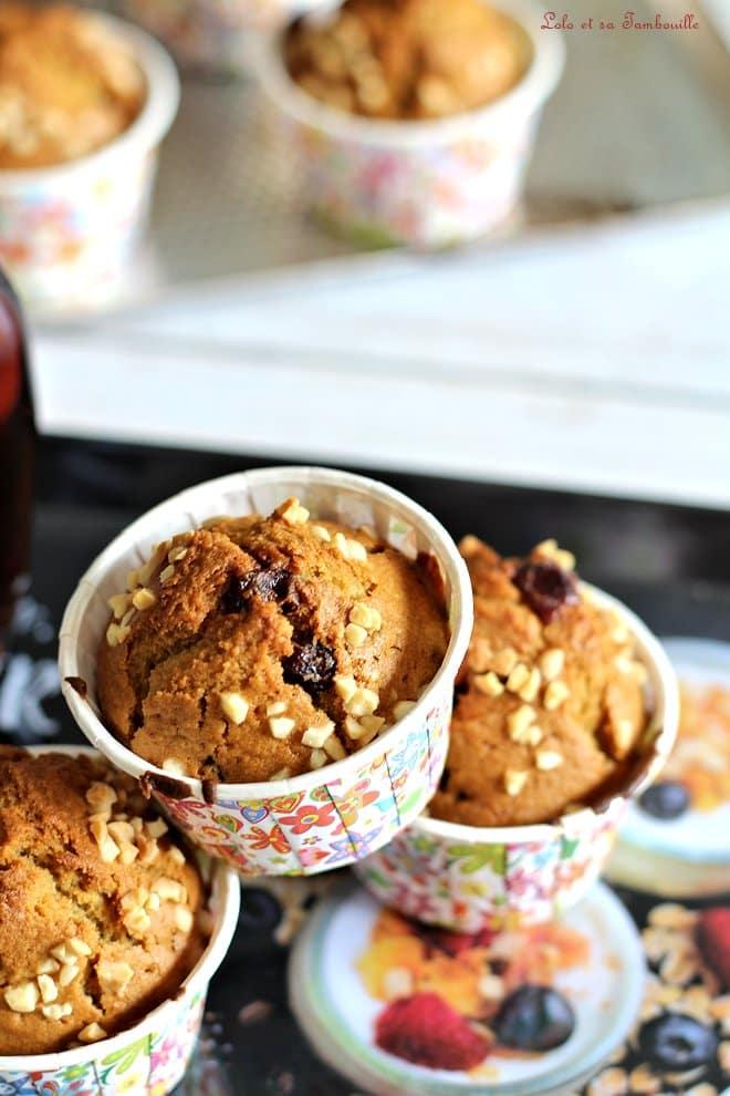 Muffins aux cranberries & sirop d'érable