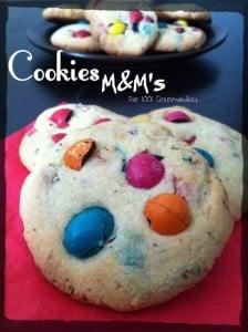 cookies aux m&m's oum noussayba