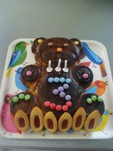 gâteau ourson au chocolat praliné florence