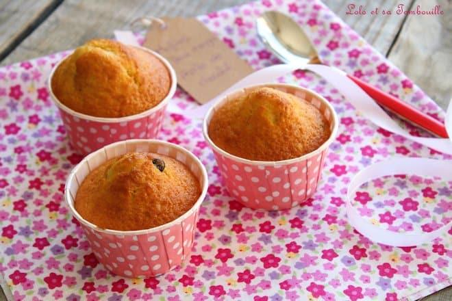 Muffins à la fleur d'oranger & pépites de chocolat